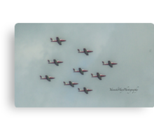 Snowbirds - Canada Day  - Canada's Military Aerobatics or Air Show Flight Demonstration Team Canvas Print