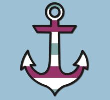 Nautical Anchor and Stripes - Black Blue Pink Kids Clothes