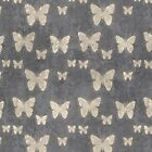 Butterflies, Insects - Gray, Eggshell Yellow  by sitnica