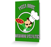 Pizza Bros. Player 2 Greeting Card