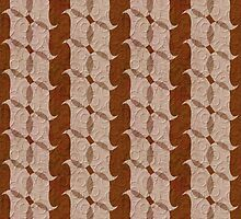 Masculine Modern Pattern in Brown and Beige by Betsy Bush