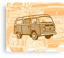 Brown Bay Campervan Dub-U King Size Duvet (please see description), Pillow and Tote Canvas Print