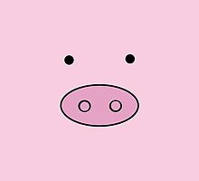 Little Piggy (Pig Face, Pig Nose) - Pink Black by sitnica