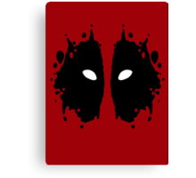 Deadpool Rorschach Test Canvas Print