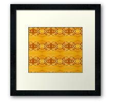 Golden Hibiscus Abstract Pattern Framed Print