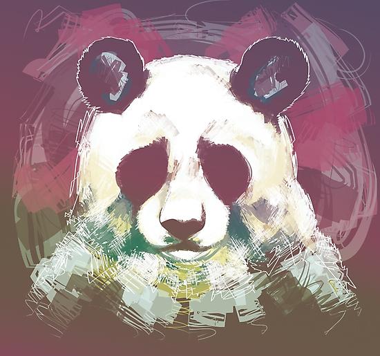 Sad panda by Claudia Hidvégi