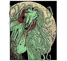 heartless ram faced lady Photographic Print