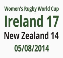 Ireland 17-14 New Zealand  by Sportsmad1