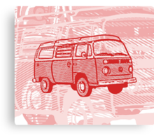 Red Bay Campervan Dub-U King Size Duvet (please see description), Pillow and Tote  Canvas Print