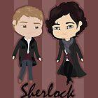 Sherlock Chibis by Alex Mathews