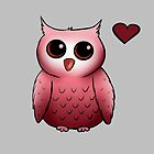 Little red owl by Solsagan