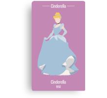 Cinderella Illustration Canvas Print