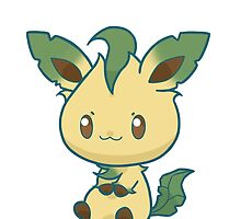 Leafeon Sticker by kiiroikat