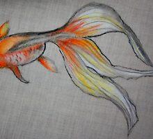 Goldfish Pond (close up #6) by Ming  Myaskovsky