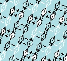 The Pen Tool Is Mightier pattern by rebecca-miller