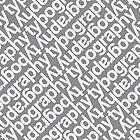 Typography Geek pattern by rebecca-miller