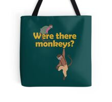 Were there monkeys? (yellow) Tote Bag