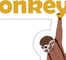 Were there monkeys? (yellow) Sticker