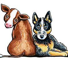 Australian Cattle Dog by offleashart
