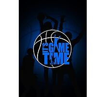 It's Game Time - Blue Photographic Print