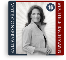 Michele Bachmann For President Canvas Print