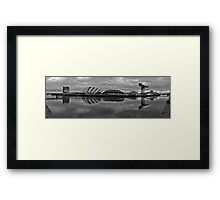 Glasgow - River Clyde Panorama Framed Print