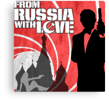 From Russia With Love Canvas Print