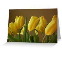 Yellow, My Favorite Tulips Greeting Card