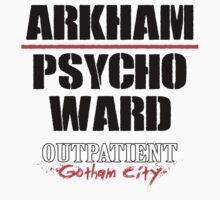Arkham Psycho Ward - White by Rupert Pupkin