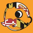 Natty Bo' Maryland Flag (Transparent) by canossagraphics