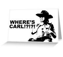 Where's Carl? Greeting Card