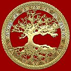 Celtic Tree of Life, Yggdrasil  [Gold] by Captain7