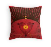 King of Heart Spaces Throw Pillow