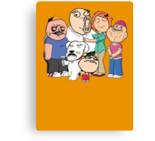 Family Guy Meme/Rage Faces Canvas Print