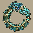 Aztec Serpent Quetzalcoatl 3d [Turquoise]   by Captain7