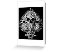 Skull Spade Greeting Card