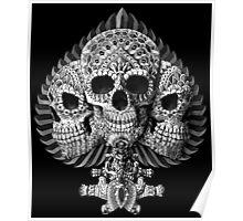 Skull Spade Poster