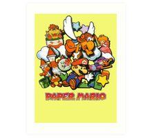 Paper Mario Art Print