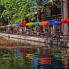 Riverwalk Reflections - San Antonio Texas USA by TonyCrehan