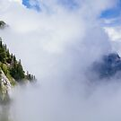 What is hidden in the clouds by Hudolin