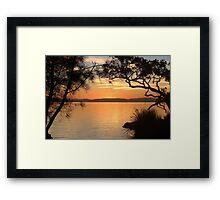 Super Sunset at Magical Myall Framed Print