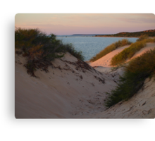 Monkey Mia Sunrise over the Sand Dunes  Canvas Print