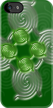 Green Abstract  pattern  (1985Views) by aldona