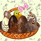 Chocolate Easter egg Card ( 1856 Views) by aldona