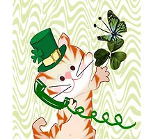 Kitty on St.Patrick's day Iphone case (1417 Views) by aldona