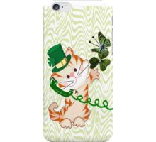 Kitty on St.Patrick's day Iphone case (1508 Views) iPhone Case/Skin