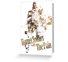 Hornet Soldier - The Pain Greeting Card
