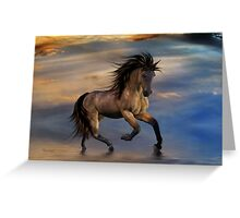 Cosmic .. Wild Stallion Greeting Card