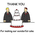 Civil Union grooms, thanks for making our cake. by KateTaylor