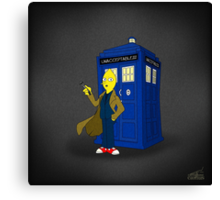 Doctor Lemongrab (Adventure Time + Doctor Who) Canvas Print